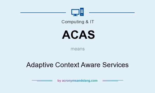 What does ACAS mean? It stands for Adaptive Context Aware Services