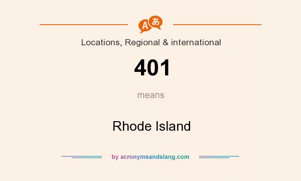 What does 401 mean? It stands for Rhode Island