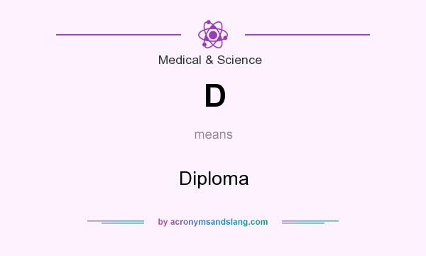 What does D mean? It stands for Diploma