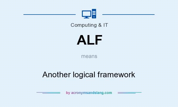 What does ALF mean? It stands for Another logical framework