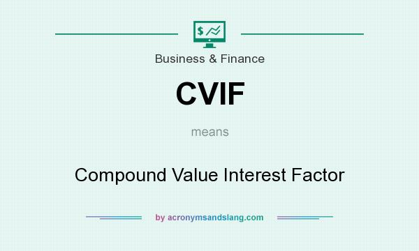What does CVIF mean? It stands for Compound Value Interest Factor