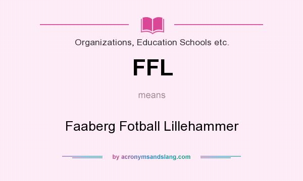 What does FFL mean? It stands for Faaberg Fotball Lillehammer