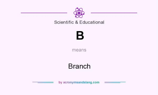 What does B mean? It stands for Branch