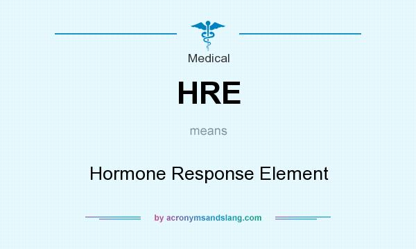What does HRE mean? It stands for Hormone Response Element