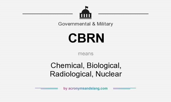 What does CBRN mean? It stands for Chemical, Biological, Radiological, Nuclear