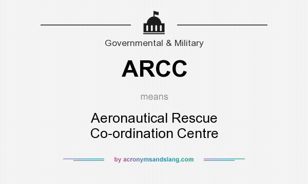 What does ARCC mean? It stands for Aeronautical Rescue Co-ordination Centre