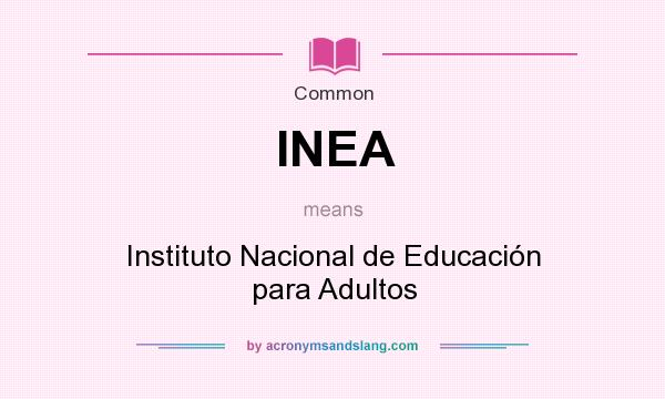 What does INEA mean? It stands for Instituto Nacional de Educación para Adultos