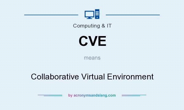 What does CVE mean? It stands for Collaborative Virtual Environment