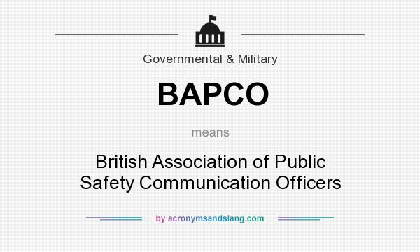 What does BAPCO mean? It stands for British Association of Public Safety Communication Officers