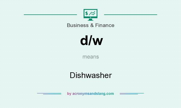What does d/w mean? It stands for Dishwasher