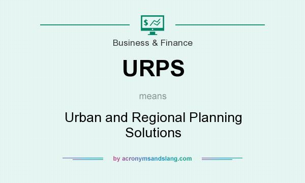 What does URPS mean? It stands for Urban and Regional Planning Solutions