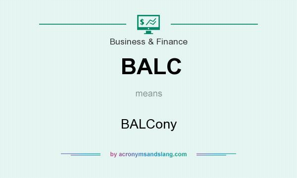 What does BALC mean? It stands for BALCony
