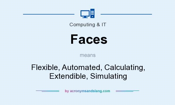What does Faces mean? It stands for Flexible, Automated, Calculating, Extendible, Simulating
