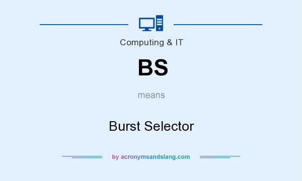 What does BS mean? It stands for Burst Selector