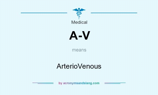 What does A-V mean? It stands for ArterioVenous