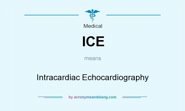 What does ICE mean? It stands for Intracardiac Echocardiography