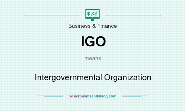 What does IGO mean? It stands for Intergovernmental Organization