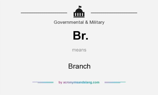 What does Br. mean? It stands for Branch