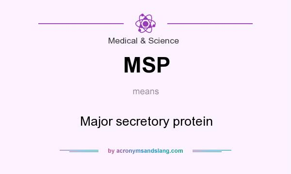 What does MSP mean? It stands for Major secretory protein