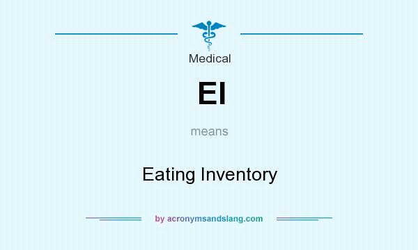 What does EI mean? It stands for Eating Inventory