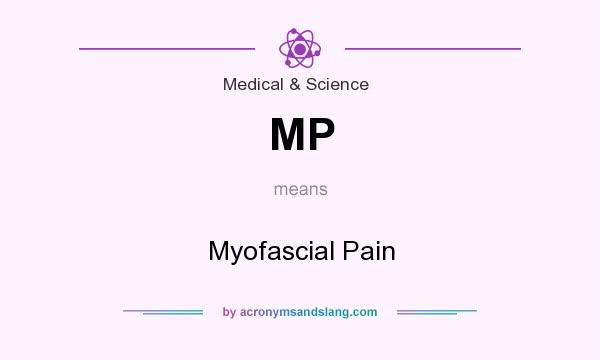 What does MP mean? It stands for Myofascial Pain