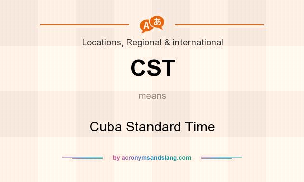 What does CST mean? It stands for Cuba Standard Time