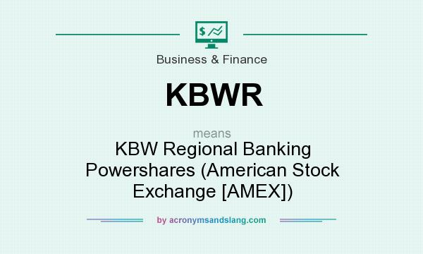 What does KBWR mean? It stands for KBW Regional Banking Powershares (American Stock Exchange [AMEX])