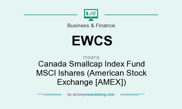 What does EWCS mean? It stands for Canada Smallcap Index Fund MSCI Ishares (American Stock Exchange [AMEX])
