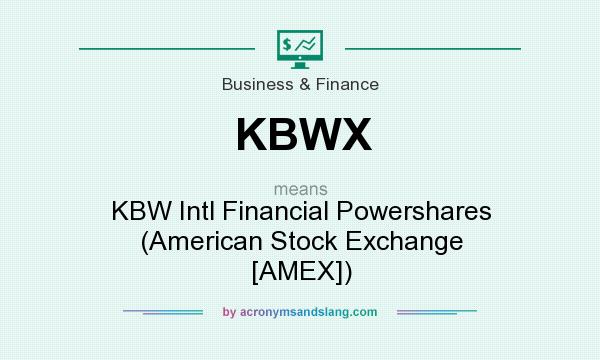 What does KBWX mean? It stands for KBW Intl Financial Powershares (American Stock Exchange [AMEX])