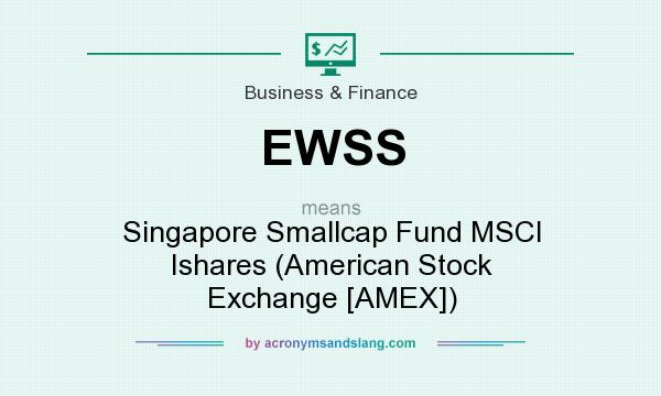 What does EWSS mean? It stands for Singapore Smallcap Fund MSCI Ishares (American Stock Exchange [AMEX])