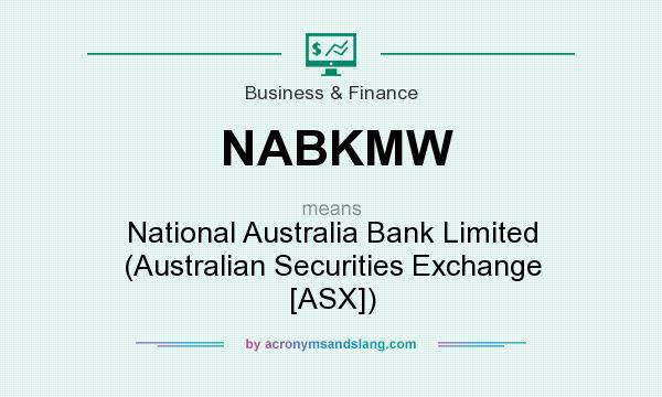 What does NABKMW mean? It stands for National Australia Bank Limited (Australian Securities Exchange [ASX])