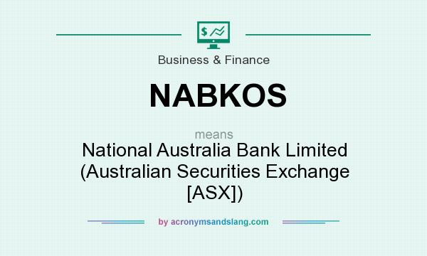 What does NABKOS mean? It stands for National Australia Bank Limited (Australian Securities Exchange [ASX])