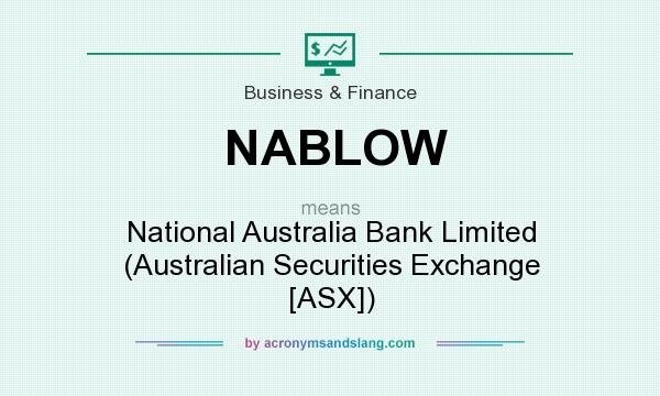 What does NABLOW mean? It stands for National Australia Bank Limited (Australian Securities Exchange [ASX])