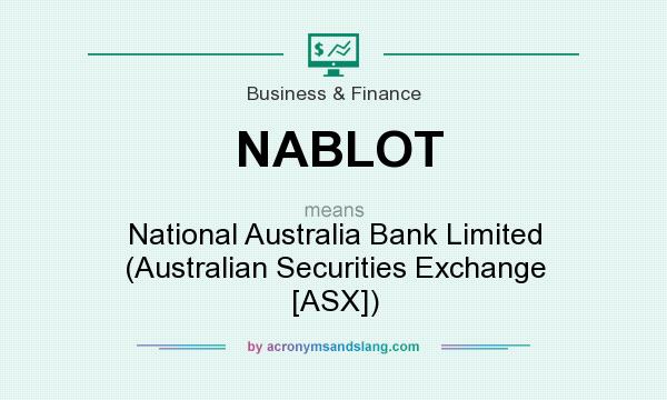 What does NABLOT mean? It stands for National Australia Bank Limited (Australian Securities Exchange [ASX])