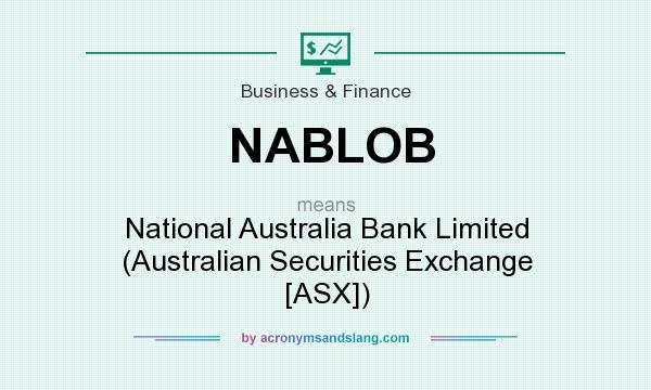 What does NABLOB mean? It stands for National Australia Bank Limited (Australian Securities Exchange [ASX])