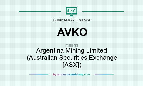 What does AVKO mean? It stands for Argentina Mining Limited (Australian Securities Exchange [ASX])