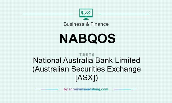 What does NABQOS mean? It stands for National Australia Bank Limited (Australian Securities Exchange [ASX])