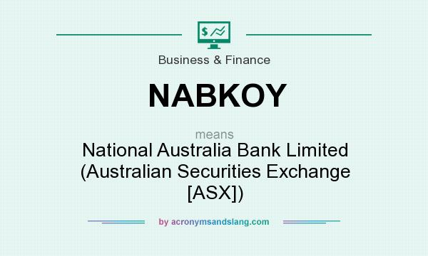 What does NABKOY mean? It stands for National Australia Bank Limited (Australian Securities Exchange [ASX])