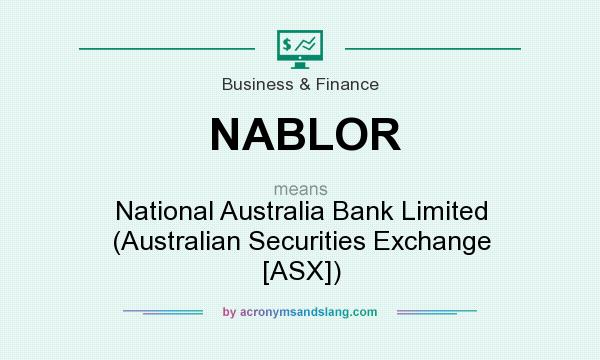 What does NABLOR mean? It stands for National Australia Bank Limited (Australian Securities Exchange [ASX])
