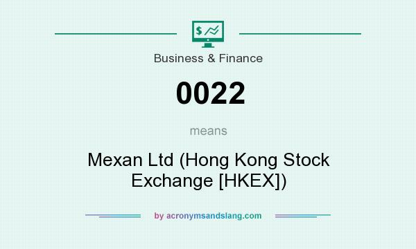 What does 0022 mean? It stands for Mexan Ltd (Hong Kong Stock Exchange [HKEX])