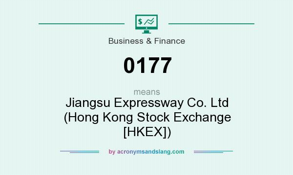 What does 0177 mean? It stands for Jiangsu Expressway Co. Ltd (Hong Kong Stock Exchange [HKEX])
