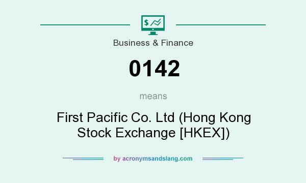 What does 0142 mean? It stands for First Pacific Co. Ltd (Hong Kong Stock Exchange [HKEX])