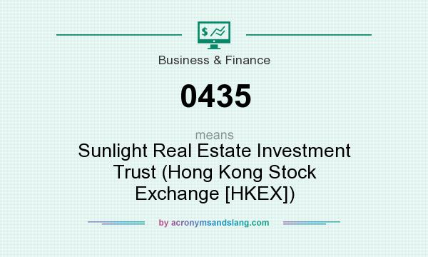What does 0435 mean? It stands for Sunlight Real Estate Investment Trust (Hong Kong Stock Exchange [HKEX])