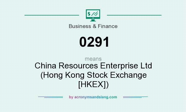 What does 0291 mean? It stands for China Resources Enterprise Ltd (Hong Kong Stock Exchange [HKEX])