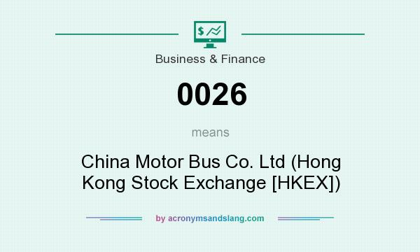 What does 0026 mean? It stands for China Motor Bus Co. Ltd (Hong Kong Stock Exchange [HKEX])