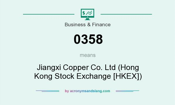 What does 0358 mean? It stands for Jiangxi Copper Co. Ltd (Hong Kong Stock Exchange [HKEX])