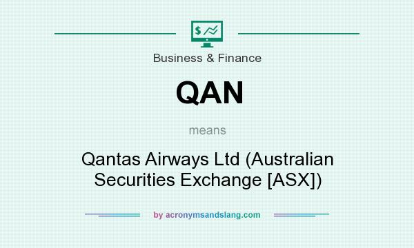What does QAN mean? It stands for Qantas Airways Ltd (Australian Securities Exchange [ASX])