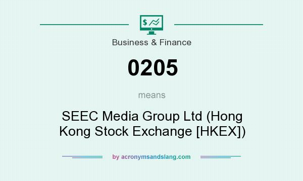 What does 0205 mean? It stands for SEEC Media Group Ltd (Hong Kong Stock Exchange [HKEX])