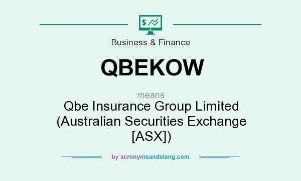 What does QBEKOW mean? It stands for Qbe Insurance Group Limited (Australian Securities Exchange [ASX])