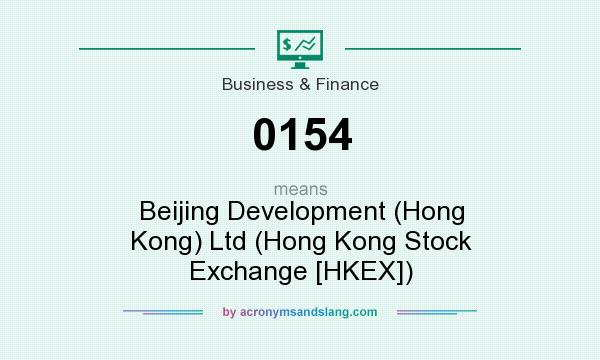 What does 0154 mean? It stands for Beijing Development (Hong Kong) Ltd (Hong Kong Stock Exchange [HKEX])